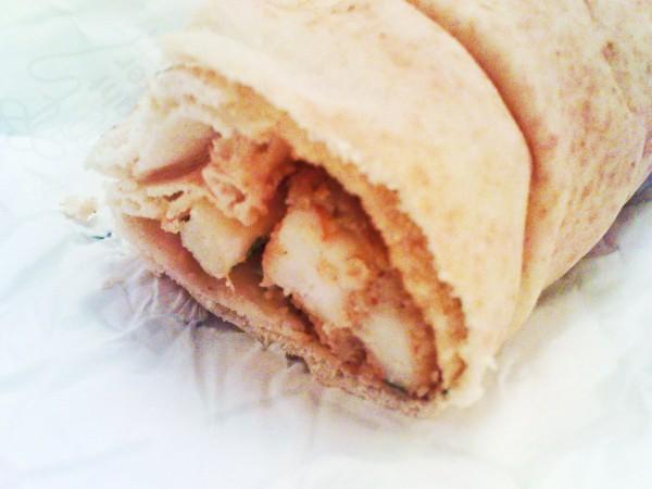 ساندوتش جمبري مقلي-خبز شامي - مذاق الجمبري,