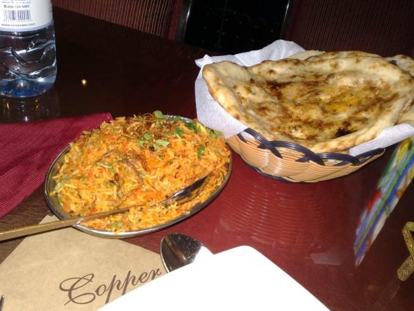 سلة خبز مشكل (نان) ورز برياني - كوبر شندني Copper Chandni,