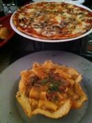 Pizza Funghi & Rigatoni