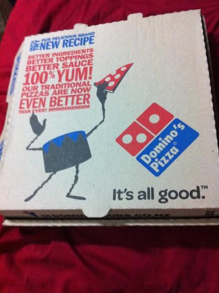 غلاف البيتزا هههههه - دومينوز بيتزا السعودية -  Domino's Pizza KSA,