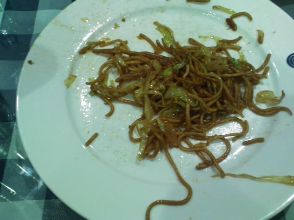 مكرونة مع الخضروات المقلية - بستان الصين - مجمع لي مول,