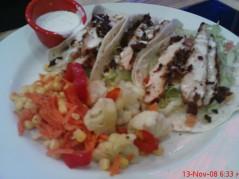 Chicken club taco