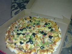 بيتزا خضار حجم كبير رقيقة