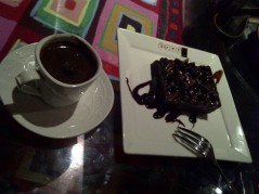 براوني + قهوه تركيه
