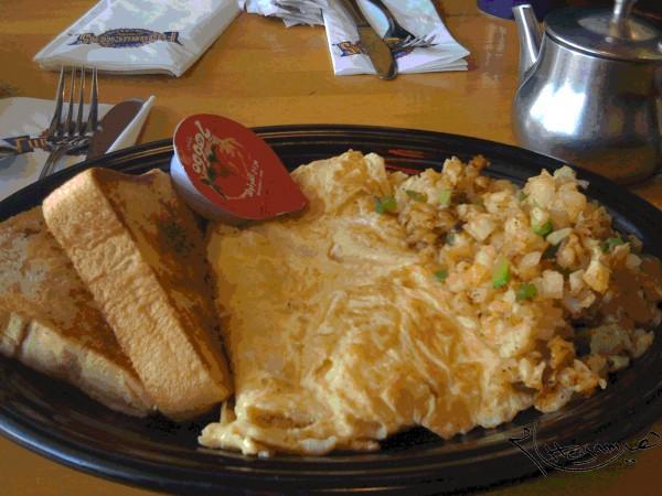 شيز أومليت- وجبة الإفطار - فدركرز Fuddruckers,
