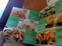 قائمة الطعام - الباستا