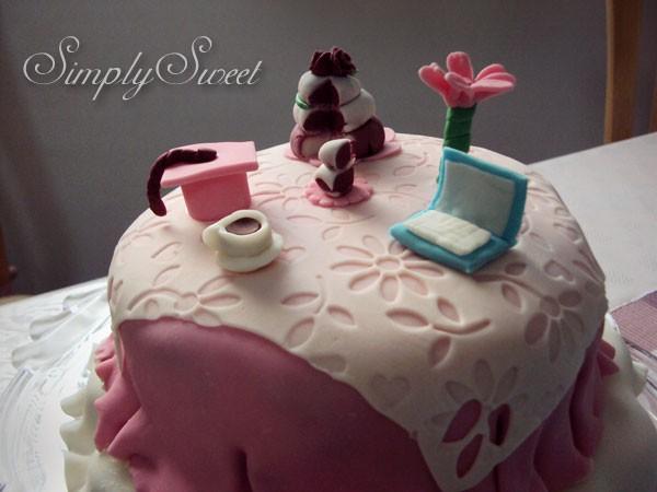 Red Velvet Graduation Cake - Simply Sweet,