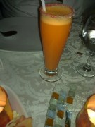 عصير برتقال بجزر