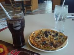 البيتزا مع الحرس الشخصي