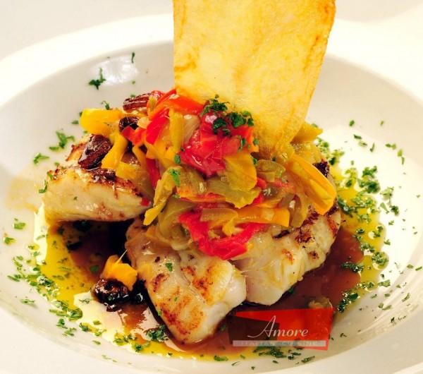 شرائح سمك الهامور المشوي  Grilled Hamour fillet - بيتزا أموري Amore Italian,