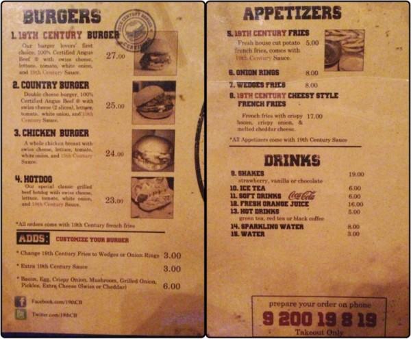 - برجر القرن التاسع عشر the 19th century burger,