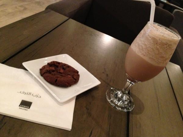 موكا فرابي مع كوكيز الشوكولاته - لوركا كافيه Lorca Cafe,