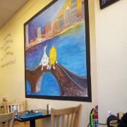 لوحة داخل المطعم